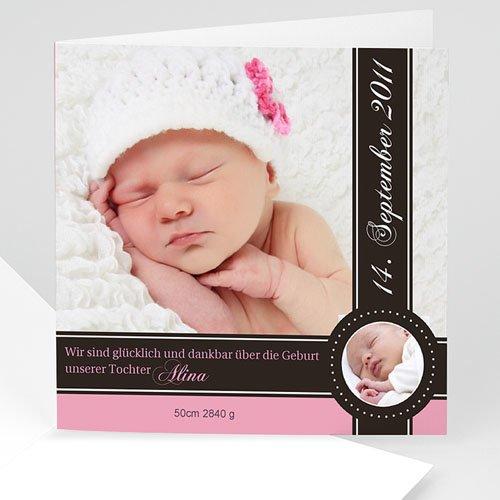 Geburtskarten für Mädchen - Geburtskarte Mia 743