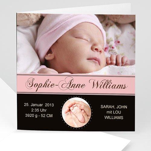 Geburtskarten für Mädchen - Geburtskarte Lovely 747
