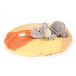 Schmusetücher mit Namen bestickt - Schmusetuch Elefant - 1