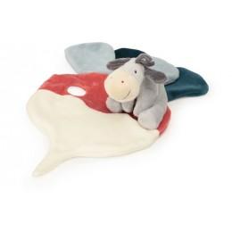 Schmusetücher mit Namen bestickt - Schmusetuch Esel - 1