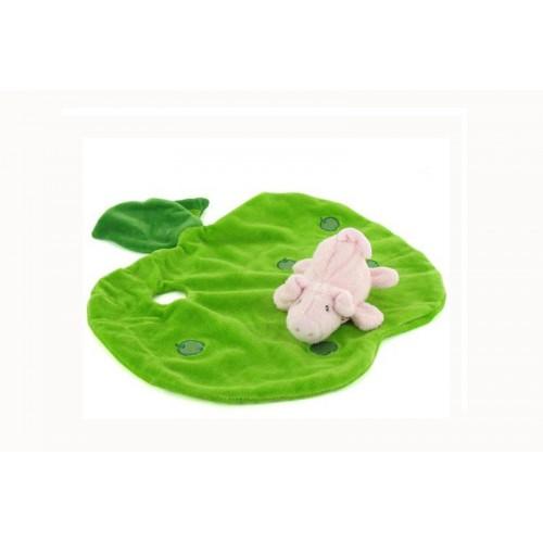 Schmusetücher mit Namen bestickt - Schmusetuch Süsses Schweinchen 7611