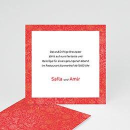 Einlegekarte individuell - Hochzeitseinladung orientalisch - 1