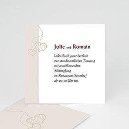 Einlegekarte individuell - Hochzeitskarte Herz pur - 1