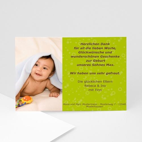 Archivieren - Babykarte anisfarben 7815