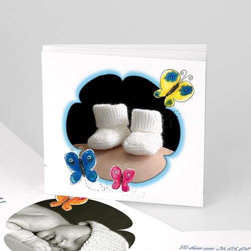 Archivieren - Die blaue Blume und Schmetterling 7951