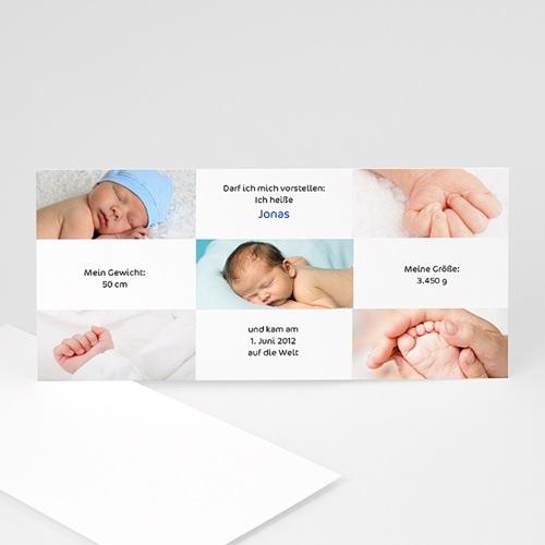 Geburtskarten für Mädchen - Geburtskarte Maxi-Fotokarte 8114