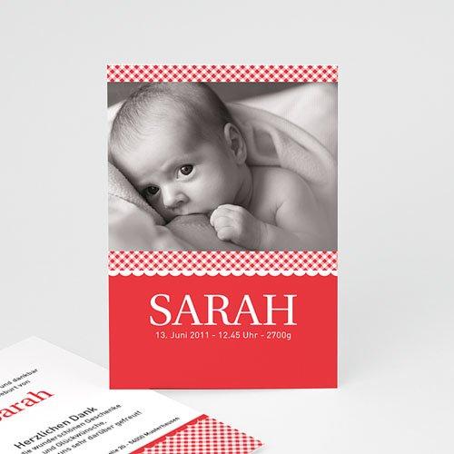 Geburtskarten für Mädchen - Geburtskarte Vichy 1 8166