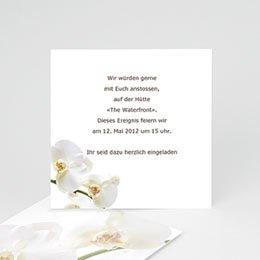 Einlegekarte individuell - Hochzeitskarte Orchidee - 1