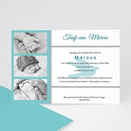 Einladungskarten Taufe Jungen  - Taufe fliegen - 1