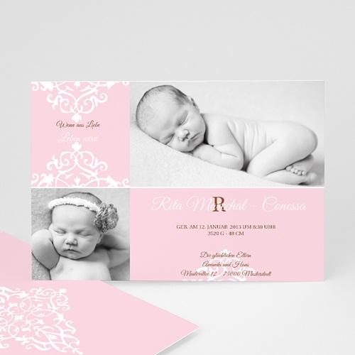 Geburtskarten für Mädchen - Geburtskarte Linnea 2 8286