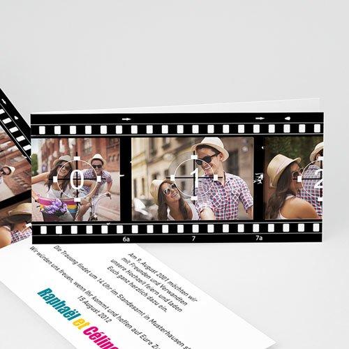 Hochzeitseinladungen modern - Hochzeitskarte Film ab ! 8358
