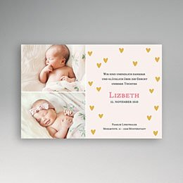 Geburtskarten für Mädchen - Geburtskarte Finn - 1