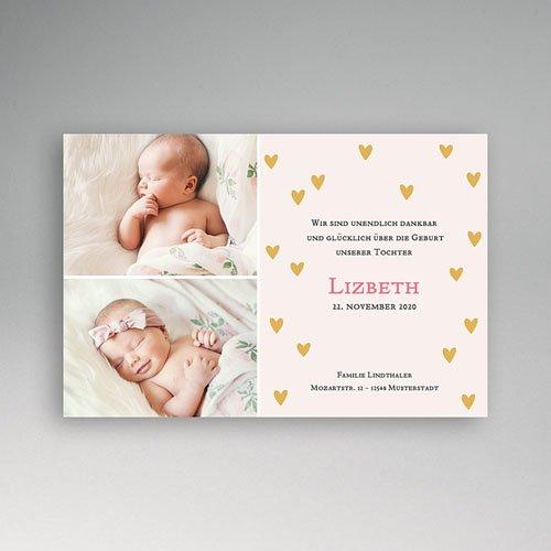 Geburtskarten für Mädchen - Kleiner Schatz  8362