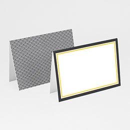 Tischkarten Hochzeit personalisiert - Hochzeitskarte grau und gelb - 1