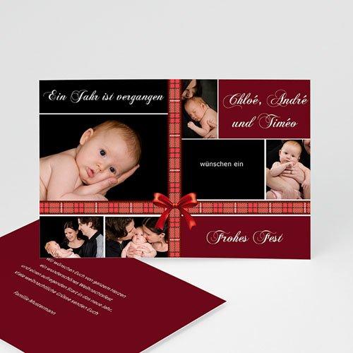 Weihnachtskarten - Dunkles Rot 8392