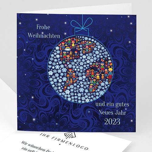 Weihnachtskarten - Weltkugel 8396