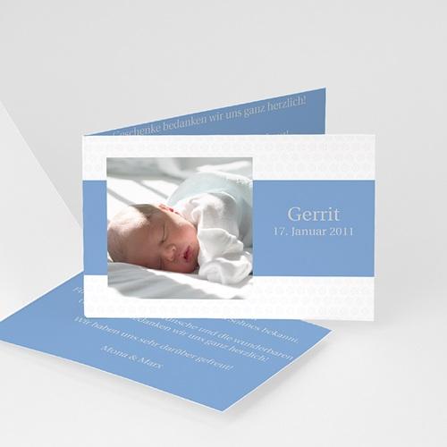 Babykarten für Jungen - Geburtskarte Blümchen 1 8444