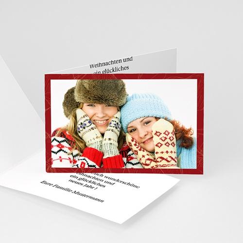 Weihnachtskarten - Weihnachtskarte Weihnachtliches Rot 8452