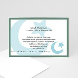 Trauer Danksagung muslimisch - Blaue Mondsichel - 1