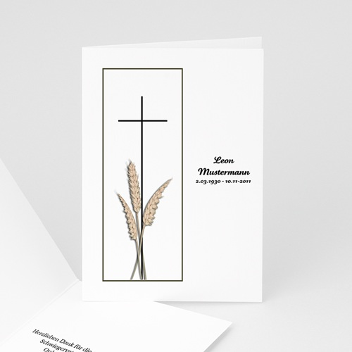 Trauer Danksagung christlich - Klappkarte schlicht  8472