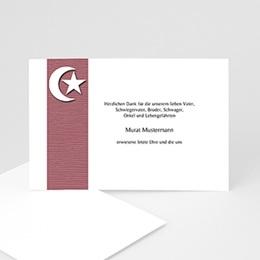 Trauer Danksagung muslimisch - Braune Monsichel - 1