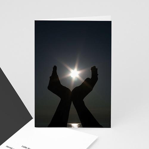 Trauer Danksagung weltlich - Trauerkarte 17 8510
