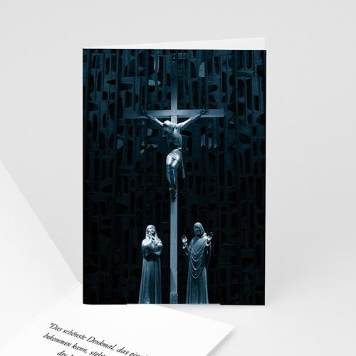 Trauer Danksagung christlich - Trauerkarte Christ 8514