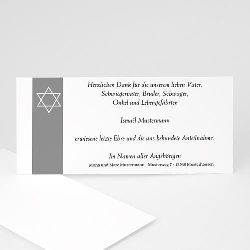 Trauer Danksagung israelitisch - Unser Stern im Himmel von Israel 8558