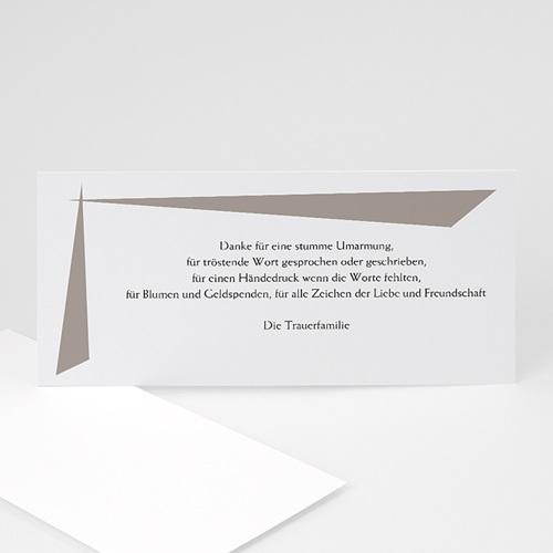 Trauer Danksagung weltlich - Trauerkarte grau 8562