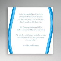 Einlegekarte individuell - Einladung Marc & Bernd - 1