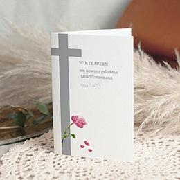 Trauer Danksagung christlich - Rosen vor dem Kreuz - 1