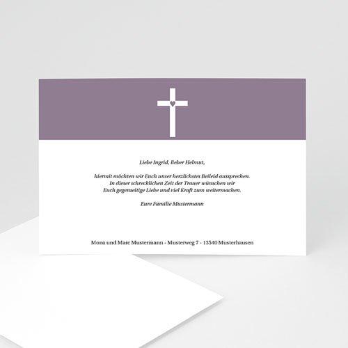 Trauer Danksagung christlich - Trauerkarte 3 8624