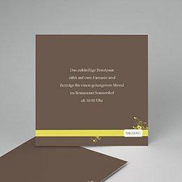 Einlegekarte individuell - Hochzeitskarte - 1