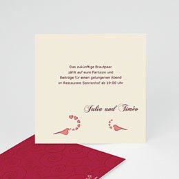Einlegekarte individuell - Hochzeitskarte Kopenhagen - 1