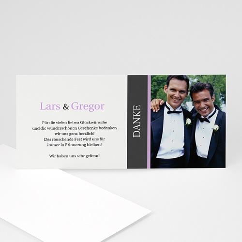 Dankeskarten Standesamt - Hochzeitskarte Herz pur 4 874