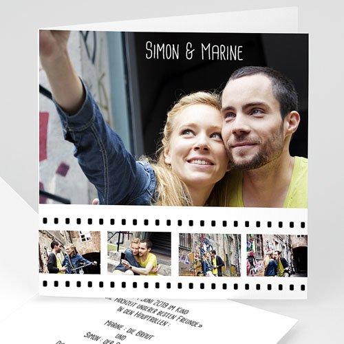 Hochzeitseinladungen modern - Hochzeitskarte Hollywood 8758