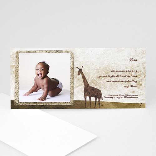 Geburtskarten für Mädchen - Giraffe 8858