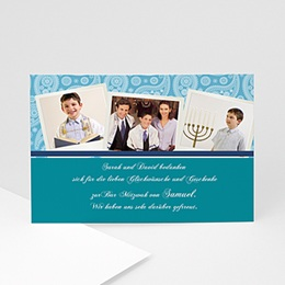 Dankeskarten Bar Mitzwah -  - 1
