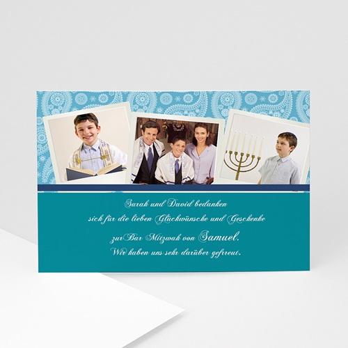 Dankeskarten Bar Mitzwah - Danksagung Bar Mitzwah 6 890