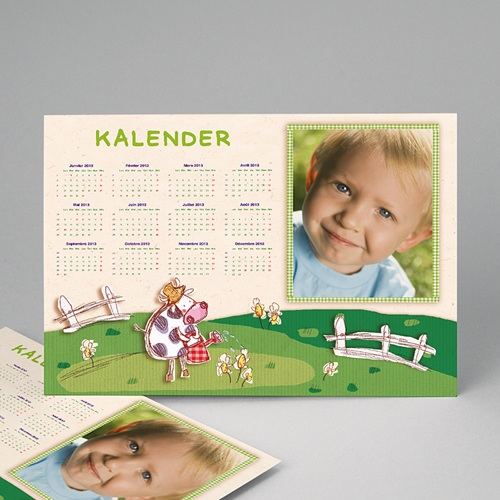 Jahresplaner - Wandkalender Lila Kuh 9005