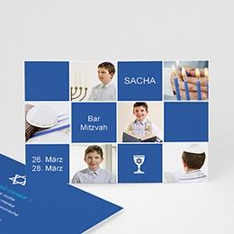 Dankeskarten Bar Mitzwah - Bar Mitzvah Sacha - 1