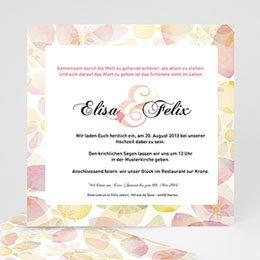 Hochzeitseinladungen modern - Blumenhochzeit - 1