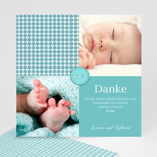Dankeskarten Geburt Jungen - Tweed Boy 9079