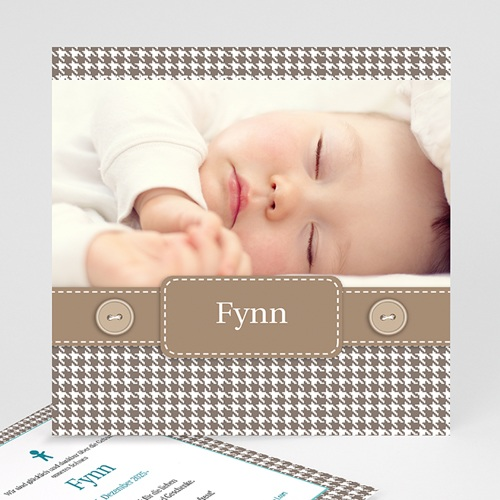 Babykarten für Jungen - Vichy Design 9087