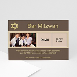 Dankeskarten Bar Mitzwah - Karte Sarah - 1