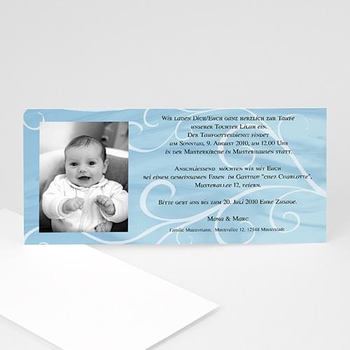 Einladungskarten Taufe Jungen  - Taufkarte in blau 1 9111