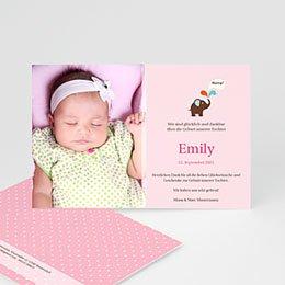 Geburtskarten für Mädchen - Kleiner Elefant - 1
