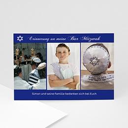 Dankeskarten Bar Mitzwah - Bar Mitzvah Kopf - 1