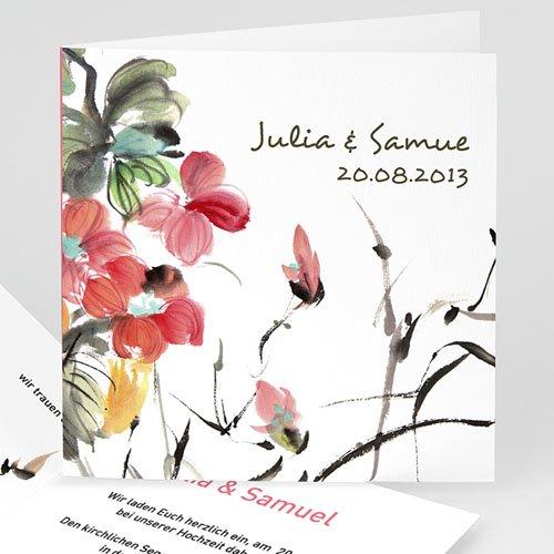 Hochzeitseinladungen modern - Chinesisches Aquarell 9143