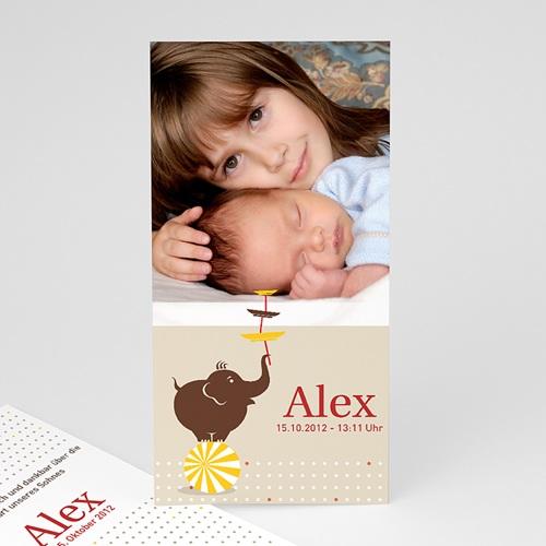 Geburtskarten für Mädchen - Zirkus 9159